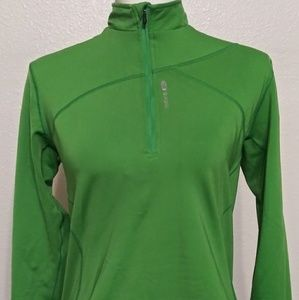 Sugoi Women's Teal Long Sleeve 1/4 Zip Cycling Run